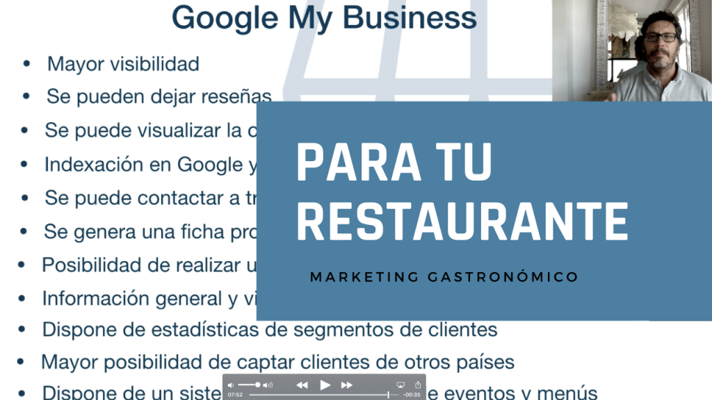 Google my business para tu restaurante