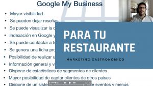Google my business para tu restaurante